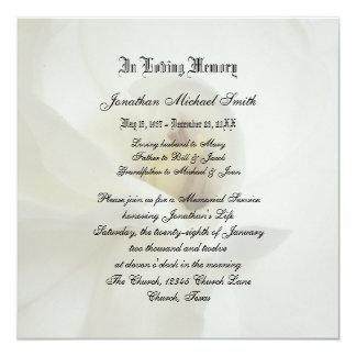 Memorial Service Invitation Announcement  Memorial Service Invitation Sample