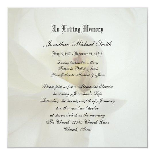 memorial service invitation announcement zazzle co uk