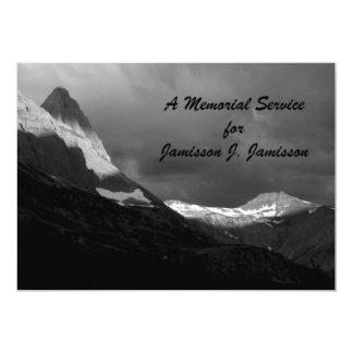 Memorial Service Invitation,  Glacier NP Sunrise 13 Cm X 18 Cm Invitation Card