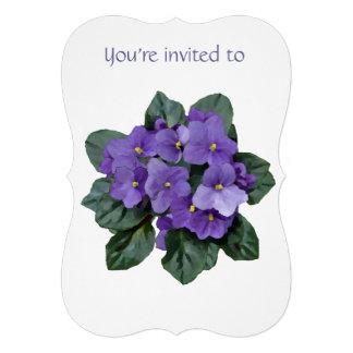 Memorial Service Invite African Violet Purple