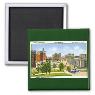 Memorial Square, Nashville, Tennessee Square Magnet