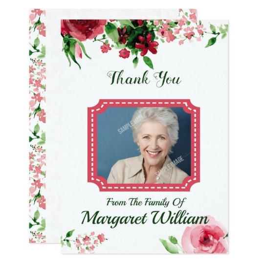 Memorial Thank You Card