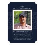 Memorial Thank You Deep Blue Photo PERHAPS POEM 13 Cm X 18 Cm Invitation Card
