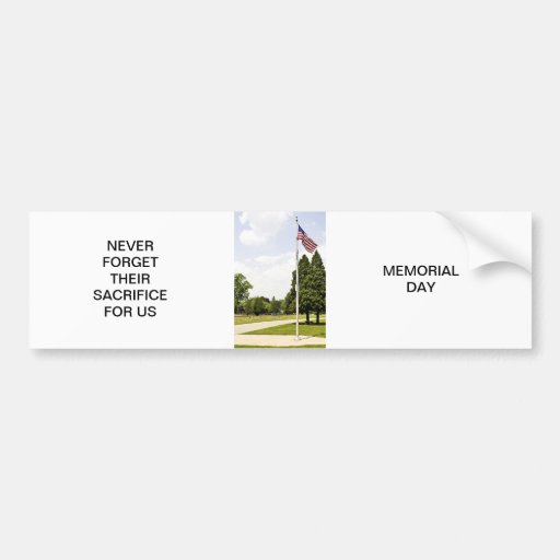 Memorial / Veterans Day Tribute Bumper Sticker