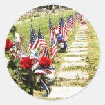 Memorial / Veterans Day Tribute Round Sticker