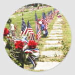 Memorial / Veterans Day Tribute Round Stickers