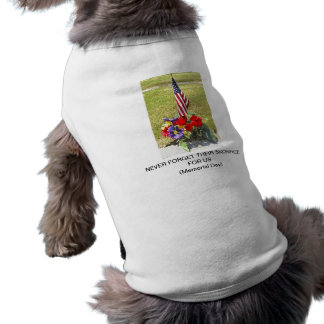 Memorial / Veterans Day Tribute Sleeveless Dog Shirt