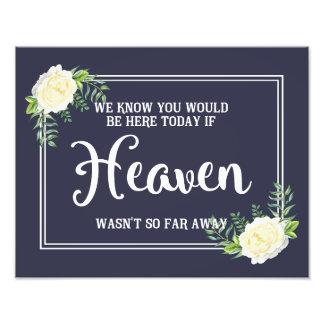 memorial wedding sign Navy blue Ivory Rose Photo