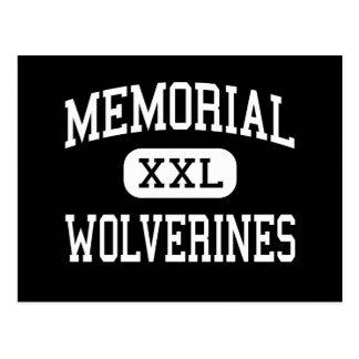 Memorial - Wolverines - High School - Alamo Texas Postcard