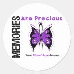 Memories Are Precious Alzheimer's Disease Round Sticker