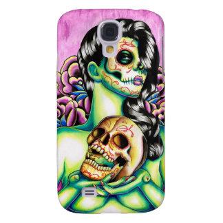 Memories Day of the Dead Sugar Skull Girl Galaxy S4 Case