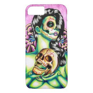 Memories Day of the Dead Sugar Skull Girl iPhone 7 Case
