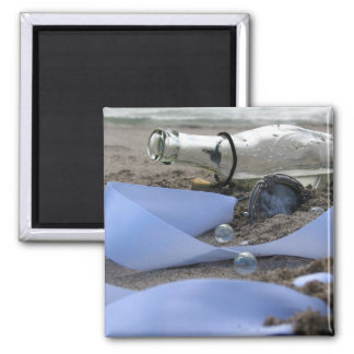 Memories in a Bottle Square Magnet
