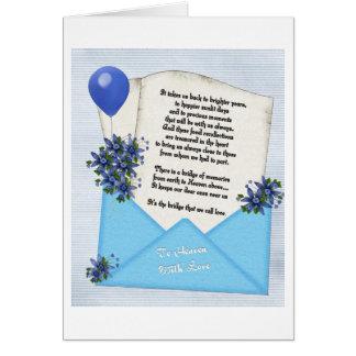 Memories Note card Blue