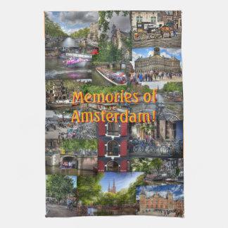 Memories of Amsterdam Photo Collage Tea Towel