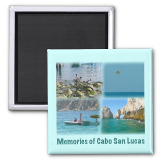 Memories of Cabo San Lucas Square Magnet