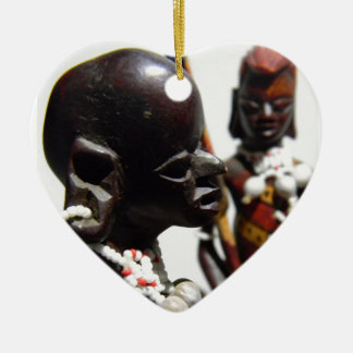 Memories of Kenya Ceramic Heart Decoration