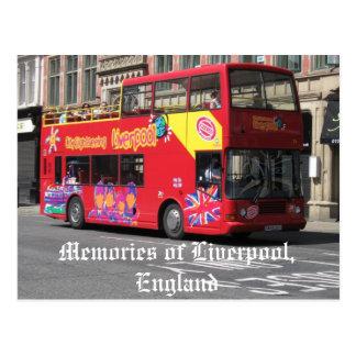 Memories of Liverpool,England postcard