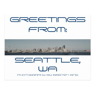 memory 2 371, GREETINGS, FROM:, SEATTLE, WA, PH... Postcard