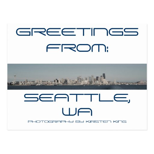 memory 2 371, GREETINGS, FROM:, SEATTLE, WA, PH... Post Card