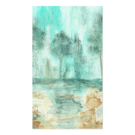 Memory,Abstract Landscape Trees Art Painting Business Card