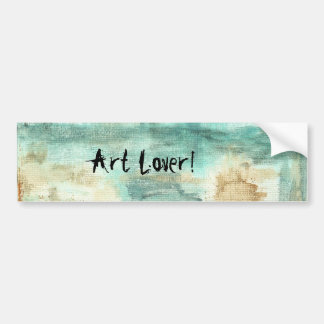 Memory Art Lover Abstract Landscape Trees Bumper Sticker