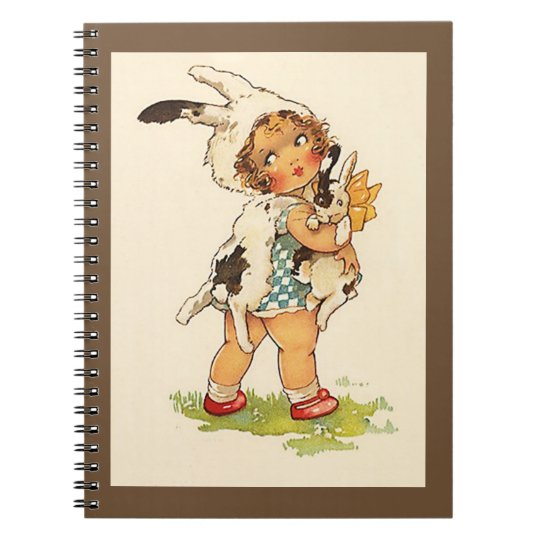 Memory Journal Book Vintage Sweet Bunny Rabbit