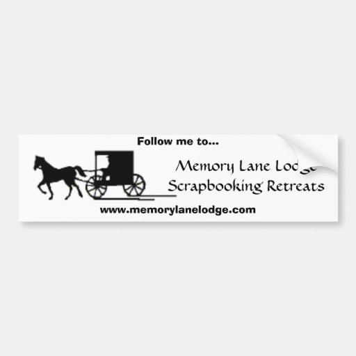 Memory Lane Lodge Bumper Sticker