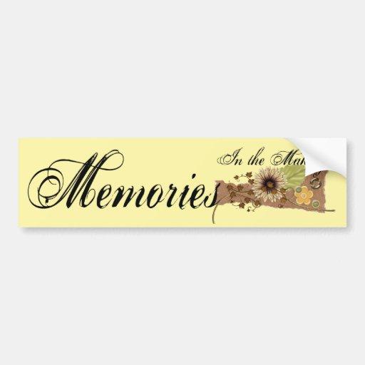 Memory Maker Bumper Sticker