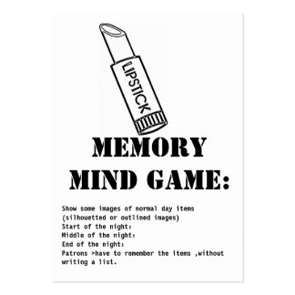 memory mind game-lipstick pack of chubby business cards