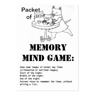 memory mind game-packet of soil business cards