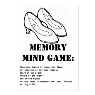 memory mind game-shoes pack of chubby business cards