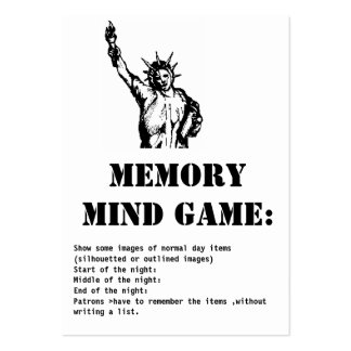 memory mind game-Statue of Liberty New York Business Card