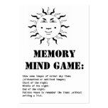 memory mind game-sun business card