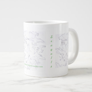 Memory Of A Sighting Of Seagulls Large Coffee Mug