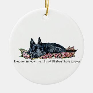 Memory of Scottish Terrier Round Ceramic Decoration