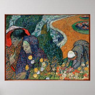 Memory of the Garden at Etten (Ladies of Arles) Poster