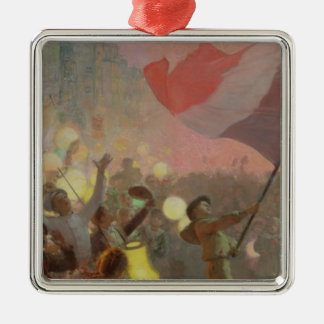 Memory of the National Festival, 1895 Silver-Colored Square Decoration