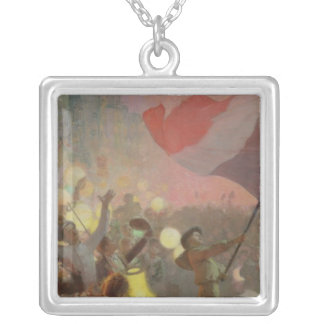 Memory of the National Festival, 1895 Silver Plated Necklace