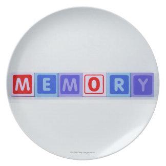 Memory. Plate