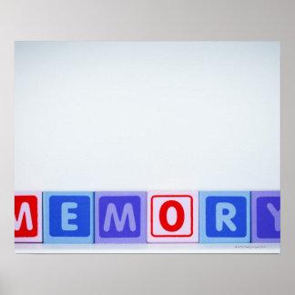 Memory. Poster