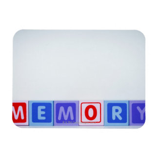 Memory. Rectangular Photo Magnet