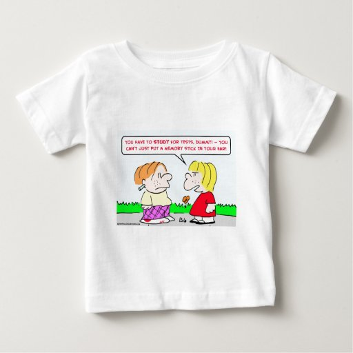 memory stick study tests educations baby T-Shirt