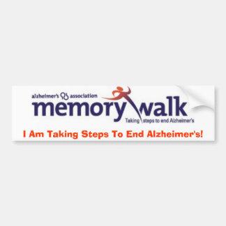 Memory Walk bumper sticker