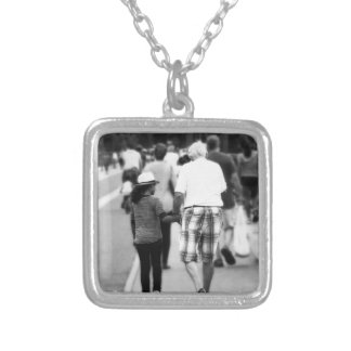 Memory With Grandpa Silver Plated Necklace