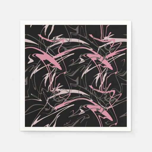 Memphis Abstract Pattern Disposable Napkin