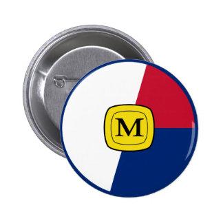 Memphis Air Forces Roundel 6 Cm Round Badge
