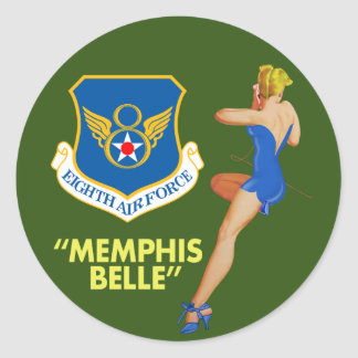 """Memphis Belle"" 8th Air Force Round Sticker"