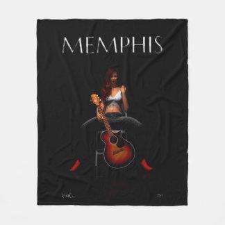 """'MEMPHIS::Black Velvet' Fleece Blanket, 50""""x60"""""""