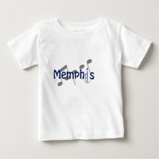 memphis blue with music notes baby T-Shirt
